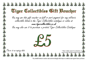 Tiger Collectibles Gift Voucher is the ideal gift for the militaria enthusiast